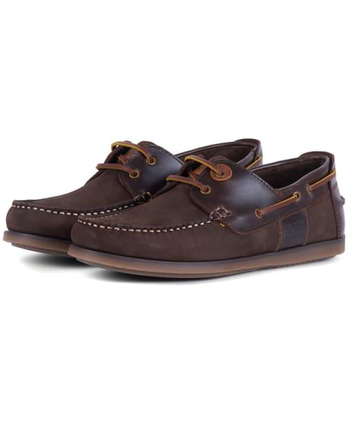 Men's Barbour Capstan Boat Shoes - Brown Nubuck