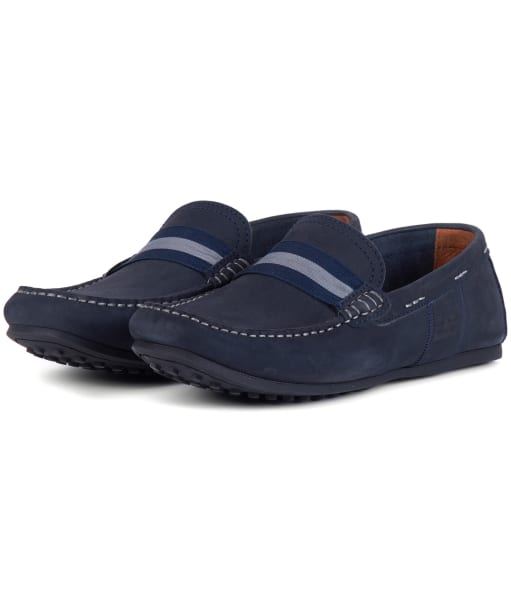 Men's Barbour Mansell Loafers - Navy Nubuck