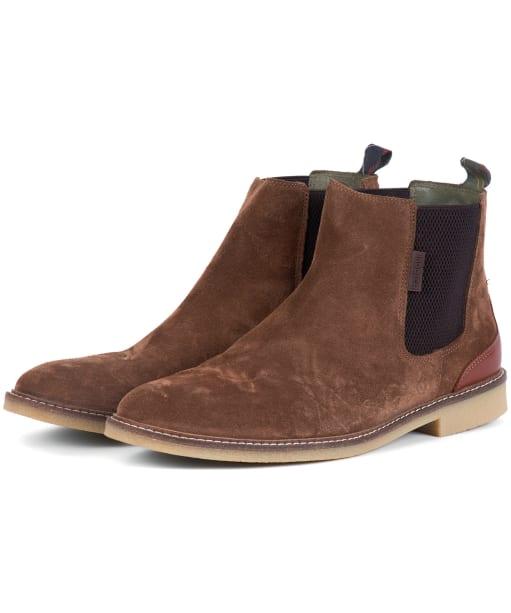 Men's Barbour Atacama Chelsea Boots - Dark Sand Suede