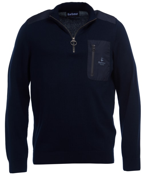 Men's Barbour Almarine Half Zip Sweater - Navy