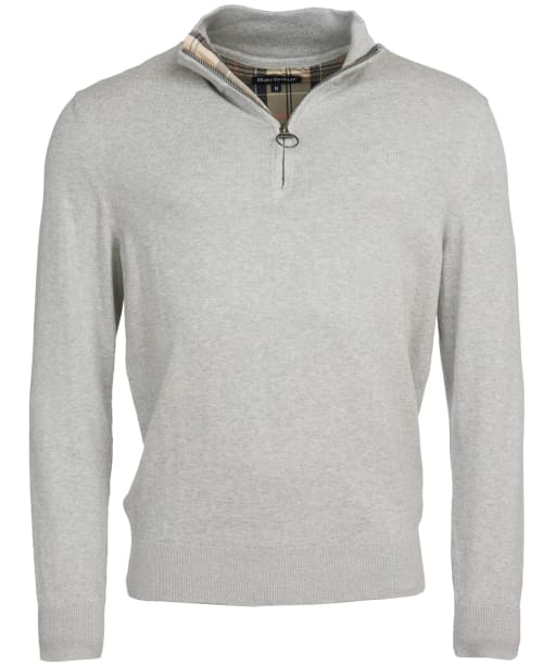 Men's Barbour Tain Half Zip Sweater - Grey Marl
