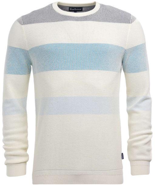 Men's Barbour Port Stripe Crew Sweater - Ecru