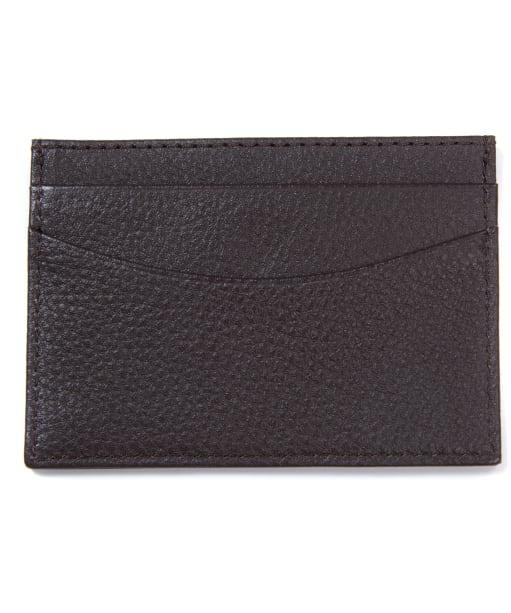 Men's Barbour Amble Leather Card Holder - Dark Brown