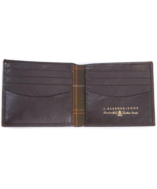Men's Barbour Amble Leather Billfold Wallet - Dark Brown