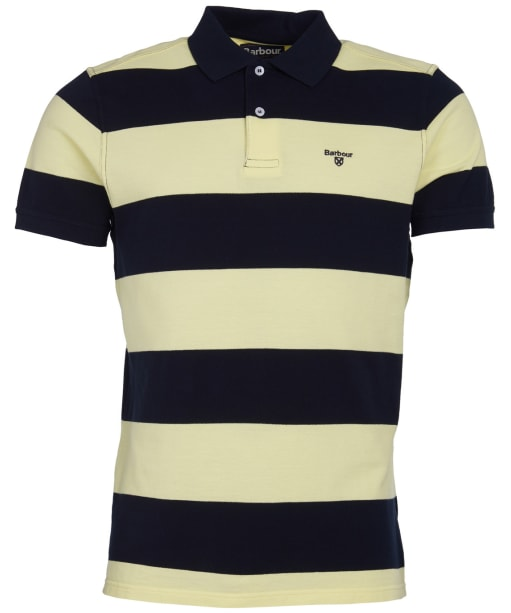 Men's Barbour Harren Stripe Polo Shirt - Lemon Zest