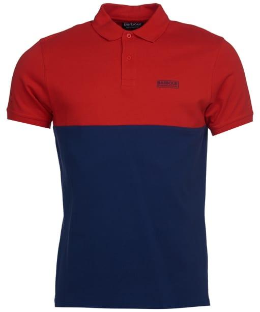 Men's Barbour International Cotter Polo Shirt - Lava