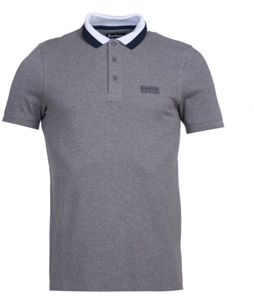 Men's Barbour International Ampere Polo - Anthracite Marl
