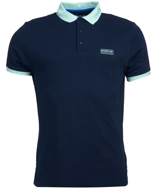 Men's Barbour International Contrast Polo Shirt - Navy