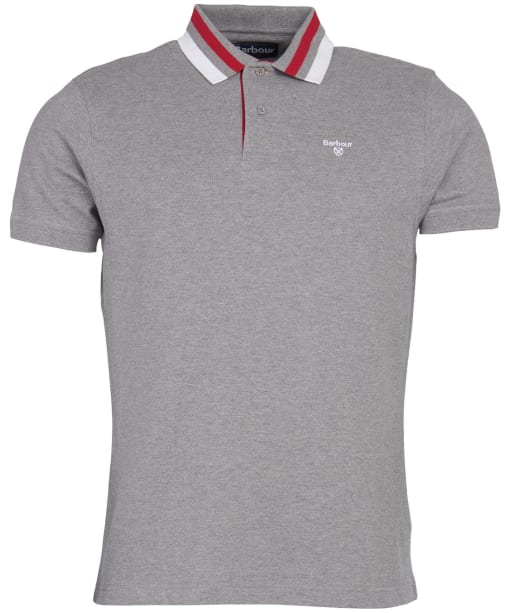 Men's Barbour Hawkeswater Tipped Polo Shirt - Grey Marl
