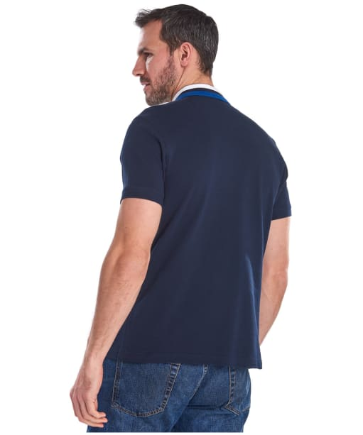 Men's Barbour Hawkeswater Tipped Polo Shirt - Navy