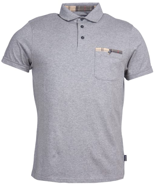 Men's Barbour Corpatch Polo Shirt - Grey Marl