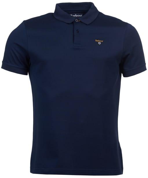 Men's Barbour Saltire Mercerised Polo Shirt - Navy