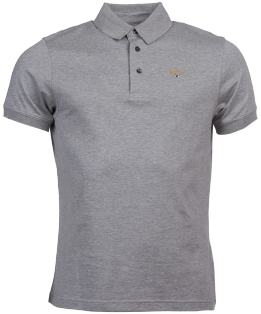 Men's Barbour Saltire Pima Jersey Polo Shirt - Grey Marl