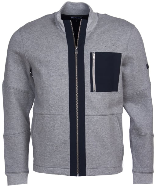 Men's Barbour International Ratio Zip Thru Jacket - Grey Marl