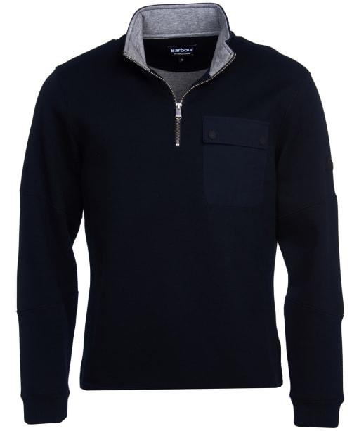Men's Barbour International Ratio Half Zip Sweater - Black