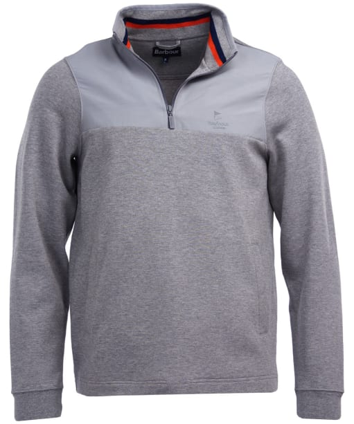 Men's Barbour Cetus Half Zip Sweater - Grey Marl