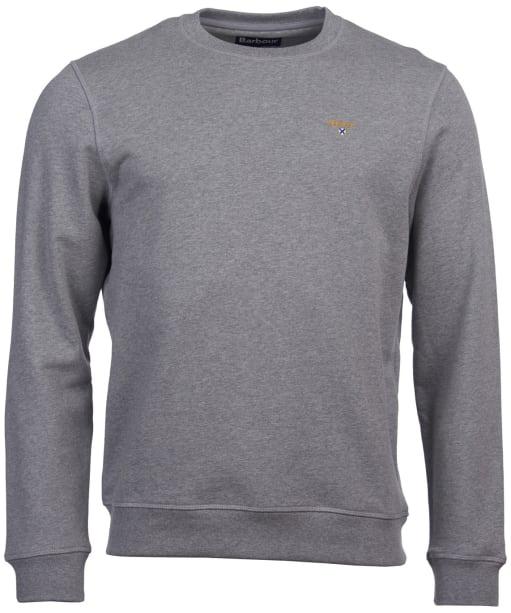 Men's Barbour Saltire Crew Sweater - Grey Marl