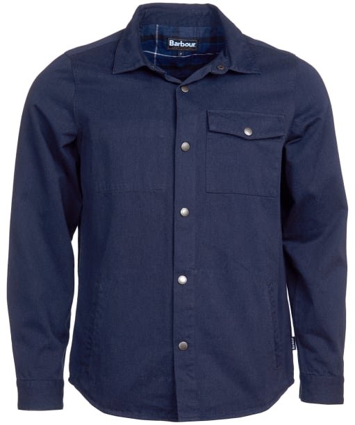 Men's Barbour Mortan Overshirt - Inky Blue