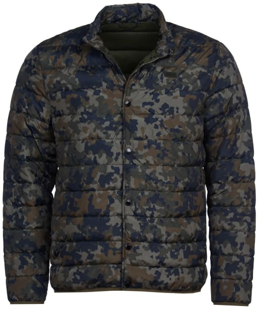 Men's Barbour International Camo Quilted Jacket - Jungle Green