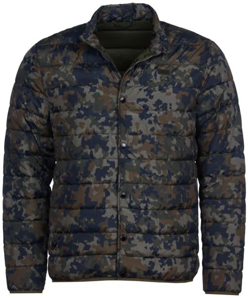 Men's Barbour International Camo Quilted Jacket - Jungle Green