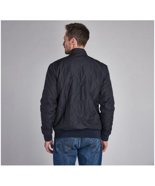 Men's Barbour International Steve McQueen Glance Quilted Jacket - Navy