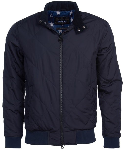 Men's Barbour International Steve McQueen Glance Quilted Jacket - Navy