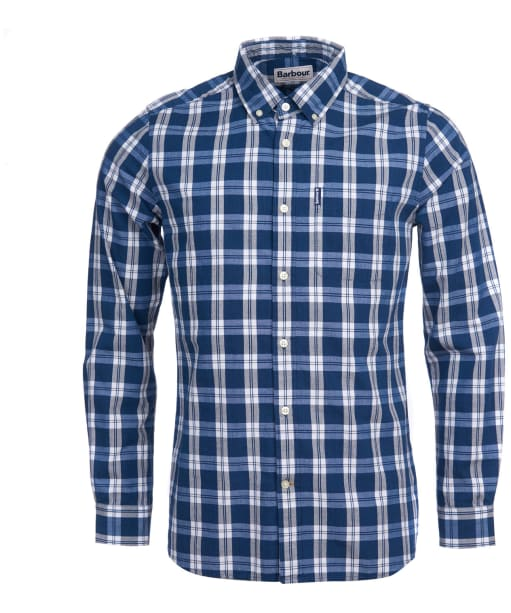 Men's Barbour Indigo 8 Tailored Shirt - Indigo Check