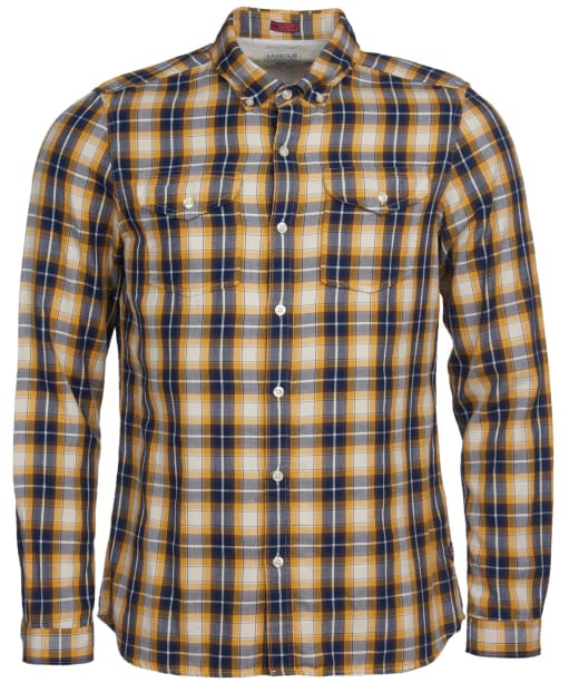 Men's Barbour International Steve McQueen Delaney Shirt - Inky Blue Check