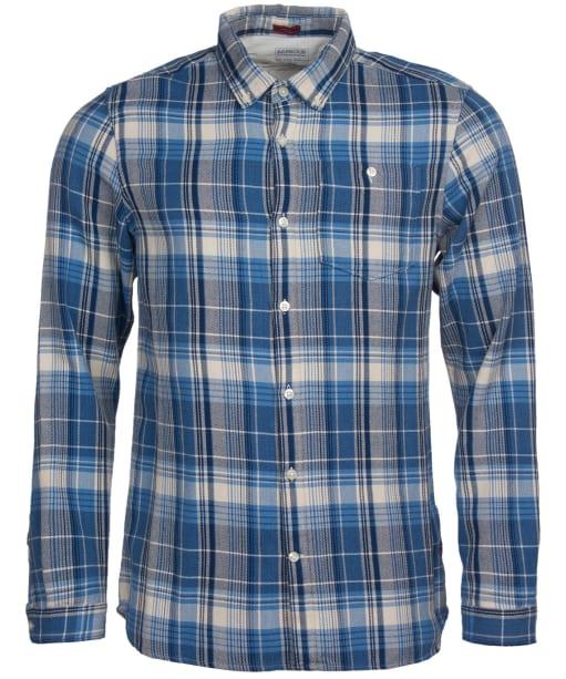 Men's Barbour International Steve McQueen Rider Shirt - Blue Check