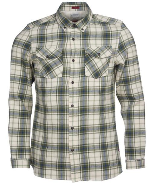 Men's Barbour International Steve McQueen Max Shirt - Pea Green