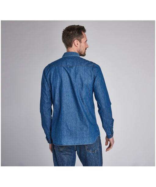 Men's Barbour International Steve McQueen Denim Shirt - Indigo