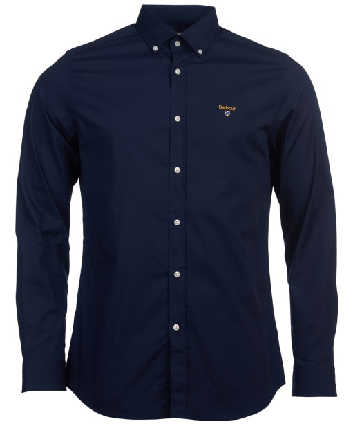 Men's Barbour Saltire Stretch Poplin Shirt - Navy