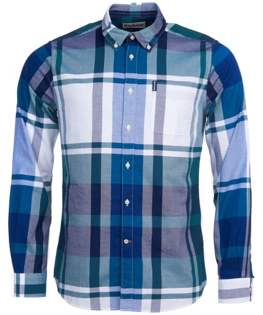 Men's Barbour Highland Check 23 Tailored Shirt - Green Check