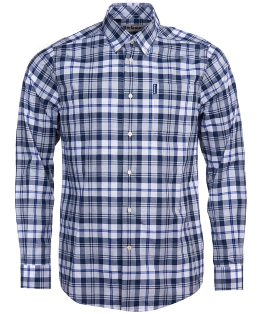 Men's Barbour Highland Check 24 Tailored Shirt - Grey Marl Check
