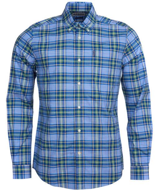 Men's Barbour Highland Check 26 Tailored Shirt - Sky Blue Check