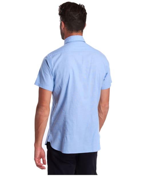 Men's Barbour Oxford 9 S/S Tailored Shirt - Blue