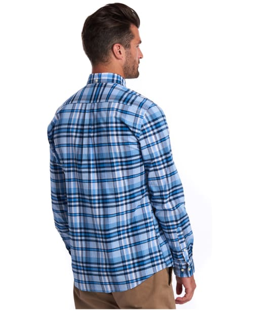 Men's Barbour Madras 5 Tailored Shirt - Mid Blue Check