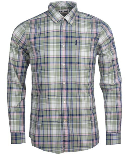 Men's Barbour Madras 6 Tailored Shirt - Olive Check