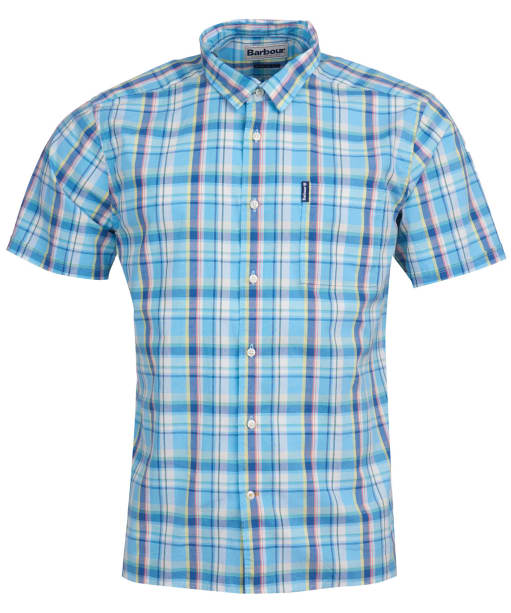 Men's Barbour Madras 6 S/S Summer Shirt - Lemon Check