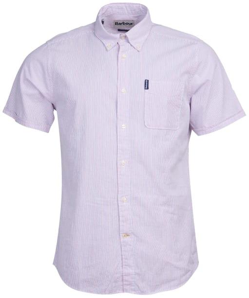 Men's Barbour Seersucker 5 S/S Tailored Shirt - Pink