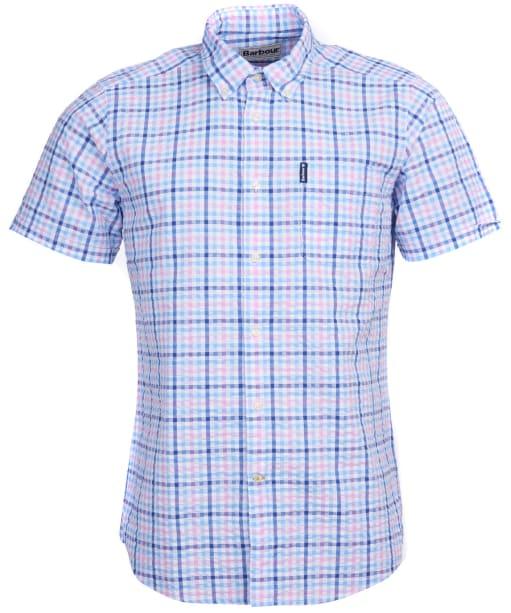 Men's Barbour Seersucker 6 S/S Tailored Shirt - Pink