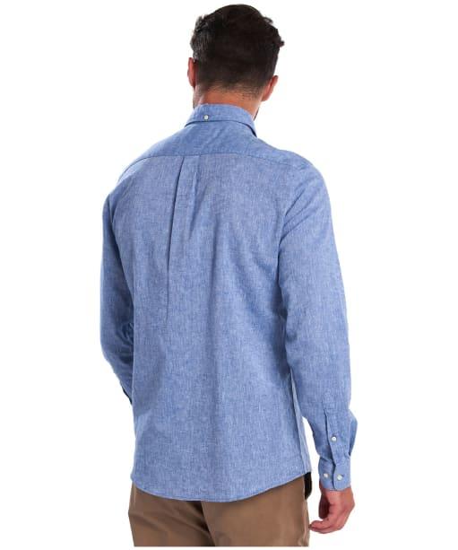 Men's Barbour Linen Mix 1 Tailored Shirt - Blue