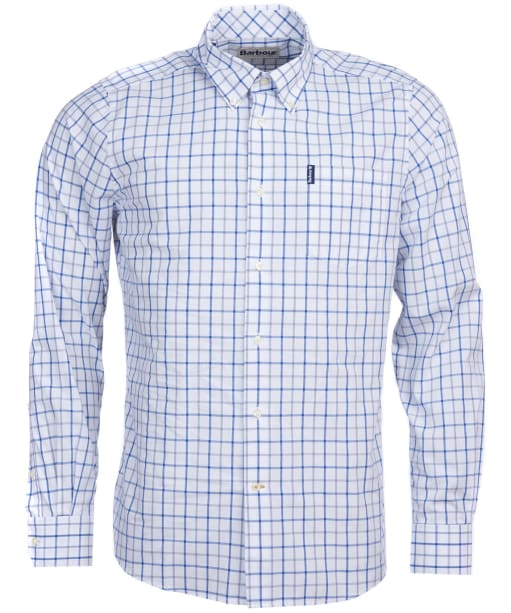 Men's Barbour Tattersall 13 Tailored Shirt - Mid Blue