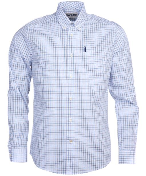 Men's Barbour Tattersall 16 Tailored Shirt - Blue