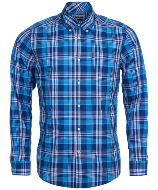 Men's Barbour Country Check 10 Tailored Shirt - Blue Check