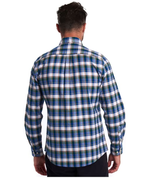 Men's Barbour Country Check 7 Tailored Shirt - Green Check