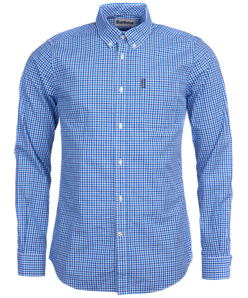 Men's Barbour Gingham 16 Tailored Shirt - Blue
