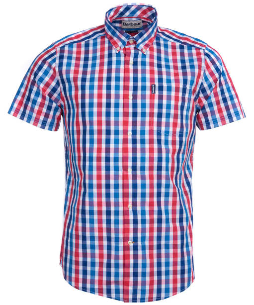 Men's Barbour Gingham 20 S/S Tailored Shirt - Red