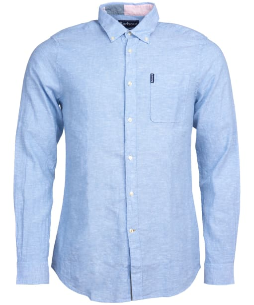 Men's Barbour Miltan Shirt - Powder Blue