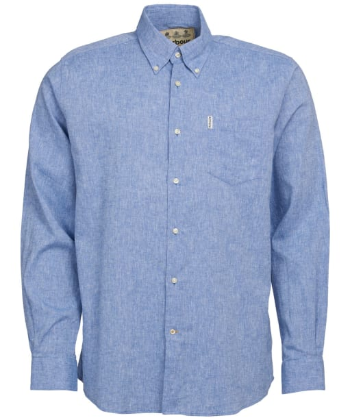 Men's Barbour Linen Mix 1 Regular Shirt - Blue
